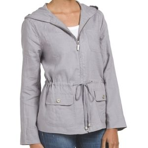 ST. Tropez Linen Zip Up Jacket